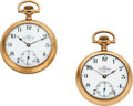 Timepieces:Pocket (post 1900), Ball Early 17 Jewel Official RR Standard & 21 Jewel Grade 999.... (Total: 2 Items)