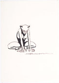 Original Comic Art:Sketches, David Mazzucchelli - Catwoman Sketch Illustration Original Art (c. 2000s)....
