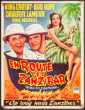 """Movie Posters:Comedy, Road to Zanzibar (Paramount, 1948). Trimmed First Post War Belgian (14.25"""" X 18.5""""). Comedy.. ..."""