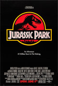 """Movie Posters:Science Fiction, Jurassic Park (Universal, 1993). One Sheet (26.75"""" X 39.75""""). SS Advance Red Style. Chip Kidd and Sandy Collora Artwork. Sci..."""