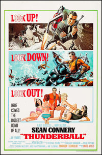 """Thunderball (United Artists, 1965). One Sheet (27"""" X 41"""") Jetpack Style, Frank McCarthy and Robert McGinnis Ar..."""