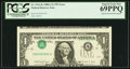 Error Notes:Inverted Third Printings, Fr. 1916-K $1 1988A Federal Reserve Note. PCGS Superb Gem New69PPQ.. ...