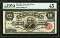 Large Size:Silver Certificates, Fr. 299 $10 1891 Silver Certificate PMG Choice Extremely Fine 45.....
