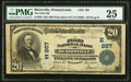 National Bank Notes:Pennsylvania, Blairsville, PA - $20 1902 Plain Back Fr. 650 The First NB Ch. # (E)867. ...