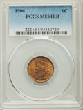 Indian Cents: , 1906 1C MS64 Red and Brown PCGS. PCGS Population: (838/170). NGC Census: (466/206). MS64. Mintage 96,022,256. ...