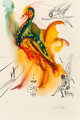 Salvador Dalí (1904-1989) Le grand pavon, 1996 Offset lithograph in colors on Arches paper 29-5/8 x 20-1/8 inches...