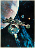 "Movie Posters:Science Fiction, 2001: A Space Odyssey (MGM, 1968). Special International ItalianPrinted Poster (39.5"" X 55"") Robert McCall Artwork.. ..."