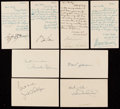 Autographs:Post Cards, c. 1950s Lot of 191 Signed Government Postcards, Letters, & Photographs.. ...