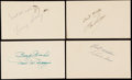 Autographs:Post Cards, c. 1950s Lot of 87 Signed Government Postcards & Photo Postcards.. ...