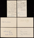 Autographs:Post Cards, c. 1950s Lot of 78 Signed Government Postcards & Photo Postcards.. ...