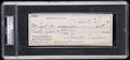 Autographs:Checks, 1981 Ted Williams Signed Check, PSA/DNA Authentic....