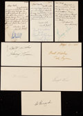 Autographs:Post Cards, c. 1950s Lot of 94 Signed Government Postcards, Letters, &Photo Postcards.. ...