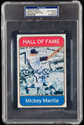 Autographs:Others, Mickey Mantle Signed Oversized Card PSA/DNA Authentic.. ...