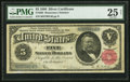 Large Size:Silver Certificates, Fr. 265 $5 1886 Silver Certificate PMG Very Fine 25 Net.. ...