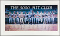 Autographs:Others, 3,000 Hit Club Signed Lithograph (12 Signatures).. ...