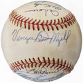Autographs:Baseballs, Baseball Greats & Hall of Famers Multi-Signed Baseball (10Signatures).. ...