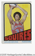 Basketball Cards:Singles (1970-1979), 1972-73 Topps Julius Erving #195. VG example of this important card....