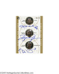 Basketball Collectibles:Others, 2001 Bryant/Jordan/Garnett Signed UDA Card. Mint card is signed in perfect blue ink by Kobe Bryant, Michael Jordan and Kevi...
