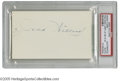 "Boxing Collectibles:Autographs, Jess Willard Signed Index Card. Perfect blue ink signature onunlined side of 3x5"" index card. LOA from Steve Grad & Zach..."