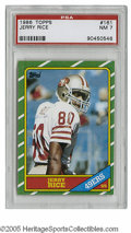 Football Cards:Singles (1970-Now), 1986 Topps Jerry Rice #161 PSA NM 7. Strong example of thisimportant card....