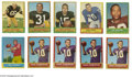 Football Cards:Lots, 1963 Topps Football Hall of Famers Lot of 10. Includes Brown, Huff, Starr, Taylor, Nitschke, Kilmer and Tarkenton (4). VG-...