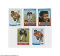 Football Cards:Lots, 1964-71 Topps Football Hall of Famers Lot of 5. Includes Unitas, Little (2), Otto and Greene. EX overall....