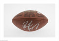 Football Collectibles:Balls, Peyton Manning Signed Football. Perfect sharpie signature on an Official N.F.L. football. COA from Mounted Memories. LOA...