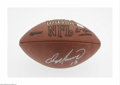 Football Collectibles:Balls, Dan Marino Signed Football. Perfect sharpie signature on an Official N.F.L. football. COA from Mounted Memories. LOA fro...