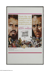 "The Agony and the Ecstasy (20th Century Fox, 1965). Window Card (14"" X 22""). The war of wills between Michaela..."