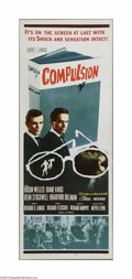 "Movie Posters:Crime, Compulsion (20th Century Fox, 1959). Insert (14"" X 36""). This is avintage, theater used poster for this drama that was dire..."
