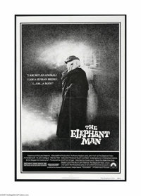 "The Elephant Man (Paramount, 1980). One Sheet (27"" X 41""). This is a vintage, theater used folded poster for t..."