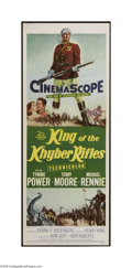 "Movie Posters:Adventure, King of the Khyber Rifles (20th Century Fox, 1954). Insert (14"" X36""). Tyrone Power is a half caste British officer who mus..."