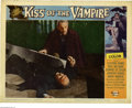"Movie Posters:Horror, Kiss of the Vampire (Universal International, 1963). Lobby Card (11"" X 14""). This is an original, theater-used lobby card to..."