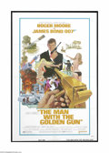 "Movie Posters:Action, The Man With the Golden Gun (United Artists, 1974). One Sheet (27""X 41""). This is a vintage, theater used folded poster for..."