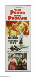 """Movie Posters:War, The Proud and Profane (Paramount, 1956). Insert (14"""" X 36""""). Thisis a vintage, theater used poster for this drama that was ..."""
