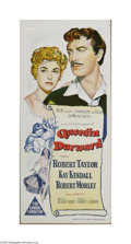 "Movie Posters:Adventure, Quentin Durwood (MGM, 1955). Australian Daybill (13"" X 30""). Thisis a vintage, theater used poster for this costume adventu..."