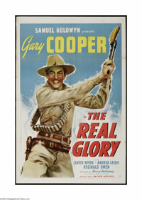 """The Real Glory (United Artists, 1939). One Sheet (27"""" X 41""""). This is a vintage, theater used poster for this..."""