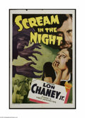 "Movie Posters:Crime, Scream in the Night (Astor, 1935). One Sheet (27"" X 41""). This is avintage, theater used poster for this crime thriller tha..."