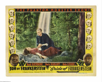 """Son of Frankenstein/Bride of Frankenstein Combo (Realart, 1952). Lobby Card (11"""" X 14""""). This is an original..."""