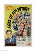 "Movie Posters:Adventure, Sons of Adventure (Republic, 1948). One Sheet (27"" X 41""). This isa vintage, theater used poster for this Hollywood stunt a..."