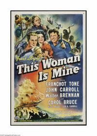"This Women is Mine (Universal, 1941). One Sheet (27"" X 41""). This is a vintage, theater used folded poster for..."