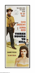 """Movie Posters:Western, Three Hours to Kill (Columbia, 1954). Insert (14"""" X 36""""). This is a vintage, theater used poster for this western that was d..."""