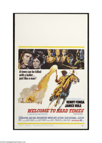 "Welcome to Hard Times (MGM, 1967). Window Card (14"" X 22""). This is a vintage, theater used poster for this we..."