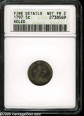 Early Half Dimes: , 1797 H10C 15 Stars Fair2--Holed--ANACS,Fine Details....