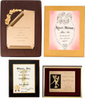 Movie/TV Memorabilia:Awards, Robert Mitchum Group of Awards (1960s-1980s).... (Total: 4 Items)