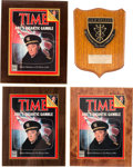 Movie/TV Memorabilia:Awards, Robert Mitchum Group of Items Related to The Winds of War (ABC, 1983).... (Total: 4 Items)