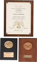 Movie/TV Memorabilia:Awards, Robert Mitchum Group of Awards (1970s).... (Total: 3 Items)