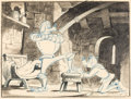 Animation Art:Production Drawing, Knight for a Day Cedric and Sir Loinsteak Layout Drawing(Walt Disney, 1946). ...
