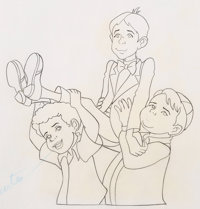 The Little Rascals Buckwheat, Alfalfa, and Spanky Animation Drawings Sequence of 18 (Hanna-Barbera, 1982).... (Total: 18...