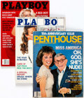 Magazines:Miscellaneous, Playboy and Penthouse Celebrity Issues Group of 7 (HMH Publishing/Penthouse Global Media,1984-96). Condition: Average Fine/Ve...(Total: 7 Items)